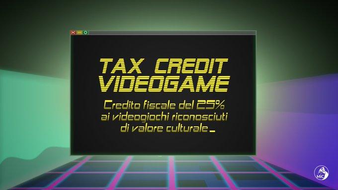credito fiscale videogiochi